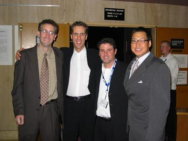 Producers Larry Weitzman, James Stern, Adam del Deo and Christopher Chen get together before the world premiere of